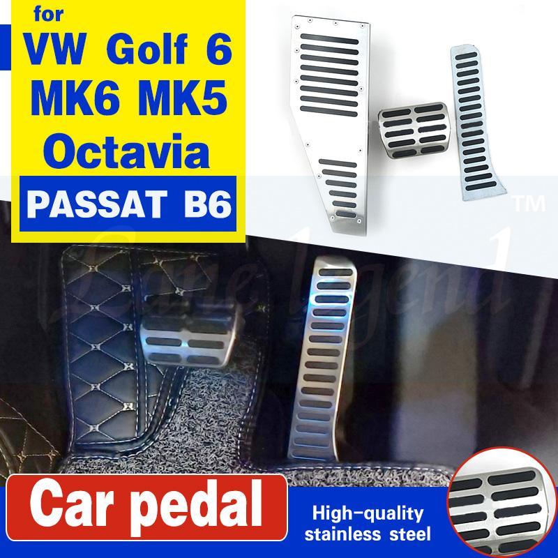 RHD Pedal für VW Golf 6 MK6 MK5 Scirocco Octavia PASSAT B6 B CC-Edelstahl-automatische Fußablage Accelerator Bremspedale