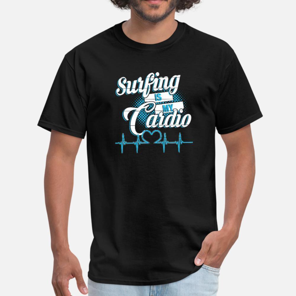 Surfer S Hearbeat Серфинг My Кардио тенниска мужчин Печать с коротким рукавом S-3XL Нормальный Симпатичные Смешной весна осень Family рубашка