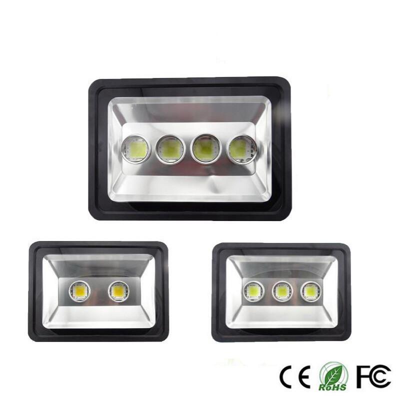 200W 300W 400W LED esterno inondazione di illuminazione LED della lampada chiara impermeabile del traforo del LED luce della lampada Lampioni CA 85-265V freddo bianco caldo