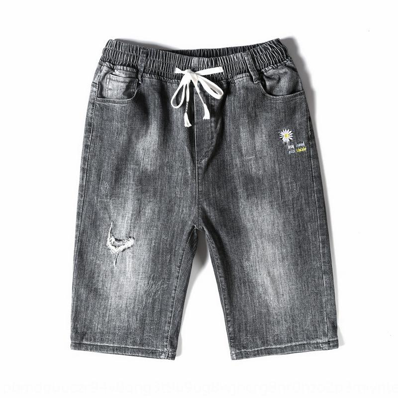 SszOL perdere sottile pantaloncini da uomo 5 punti di ultrasottili estivi a 5 punti di jeans e pantaloncini di jeans e jeans casuale tratto di 7 punti pantaloni moda maschile