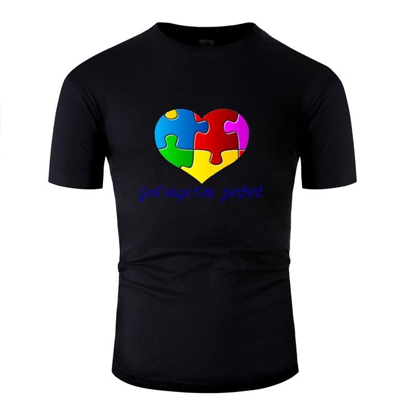 Conciencia autismo camisetas nuevo estilo 2019 de gran tamaño S-5XL Hip Hop personalizada camiseta inconformista famoso Comics Hombres