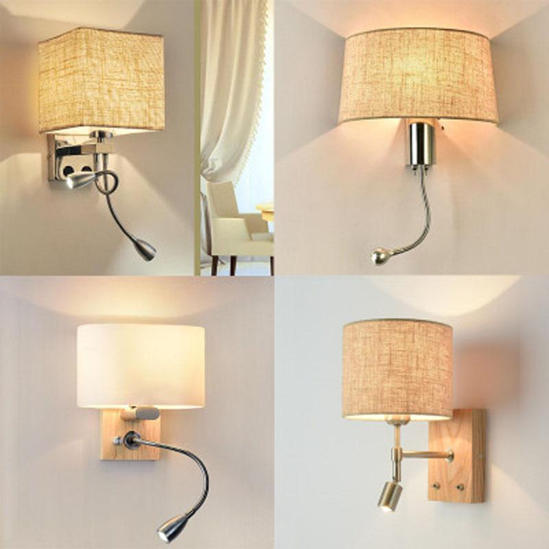 Simple modern Nordic lamps and lanterns creative living room bedroom bedside rotatable wall lamp stairs LED hotel wall lamp