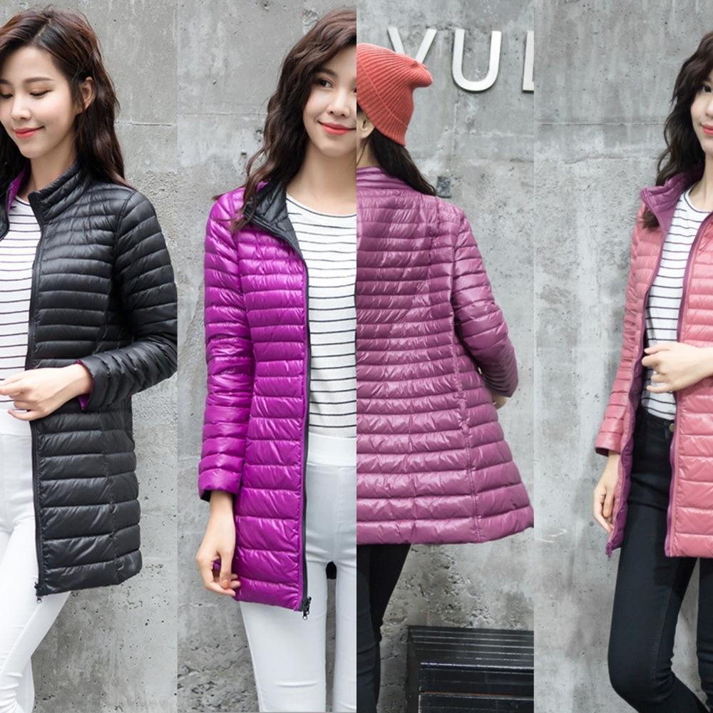 g0hvP donne è sottile di media lunghezza su due lati cappotto giacca supporto rivestimento sottile di grandi dimensioni coatseason giù collare coreano giù in forma