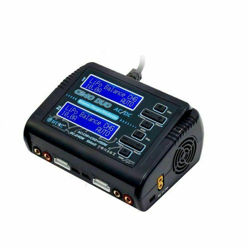 HTRC AC 150W DC 240W doppio canale RC bilanciamento della vettura lipo batteria caricatore scaricatore