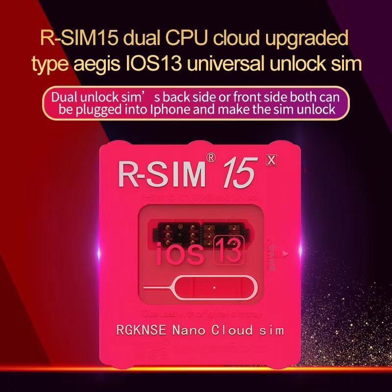 Cgjxs R -Sim 15 Dual Cpu Auto Universal Unlocking Sim For All Ios 13 System Iphone Series Cellphones