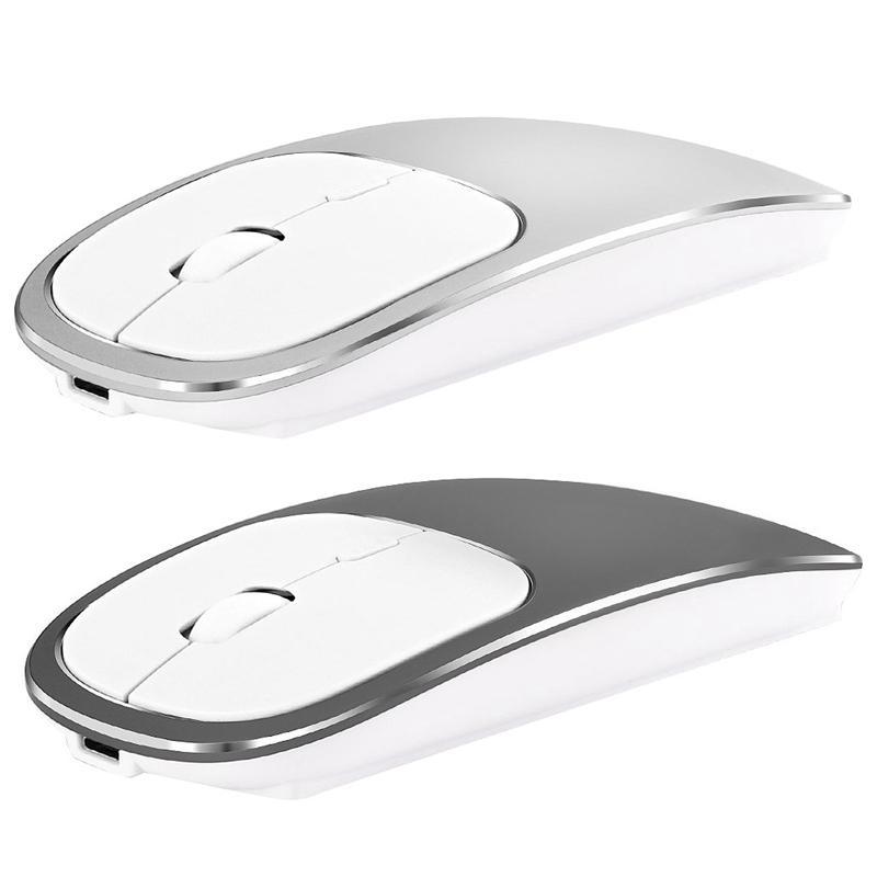Mäuse Metall Bluetooth und 2,4g Wireless Maus-Legierung ultradünne Aufladung tragbarer ergonomisch für Mac PC Laptop