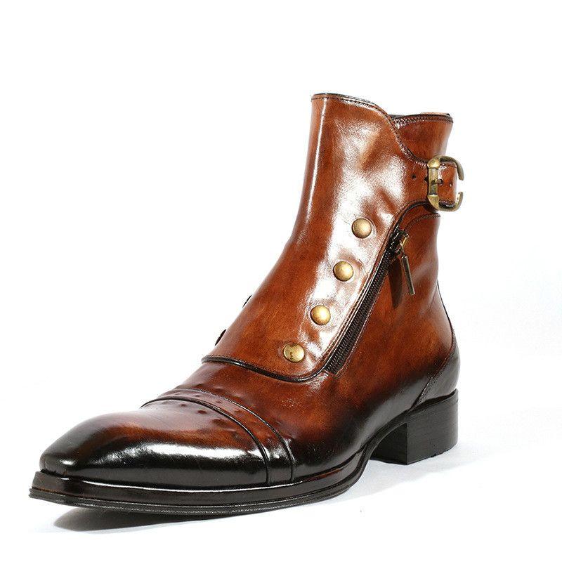 Мужчины ботильоны бизнес платье обувь мужчина теплый обувных мужская зима осень гладиатор пинетки Sapato feminino chaussure M0133