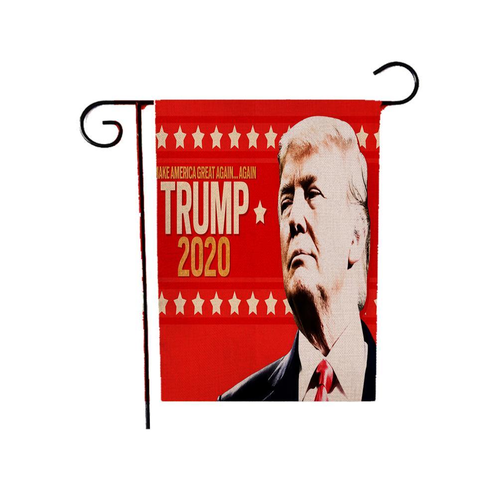 ترامب 2020 العلم 30 * 45CM دونالد ترامب الرئيس الأمريكي الانتخابات حديقة العلم ساحة الحديقة الديكور جعل أعلام أمريكا راية العظمى GGA3684-3