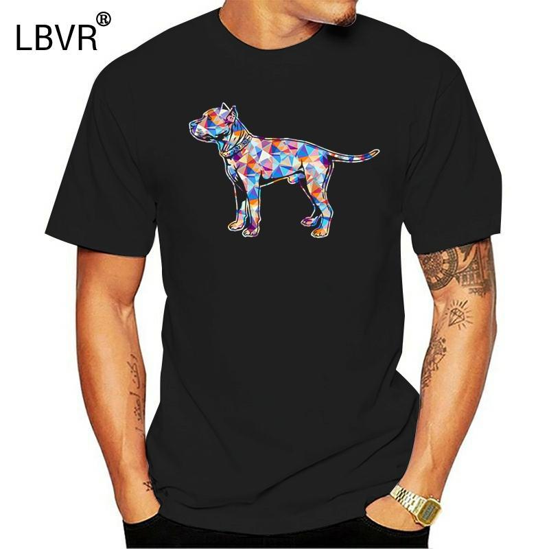 Staffordshire Bull Terrier T-Shirt Männer gestrickte kurze Hülsen-S-XXXL Muster Gift Humor Frühling Buchstabe T-Shirt