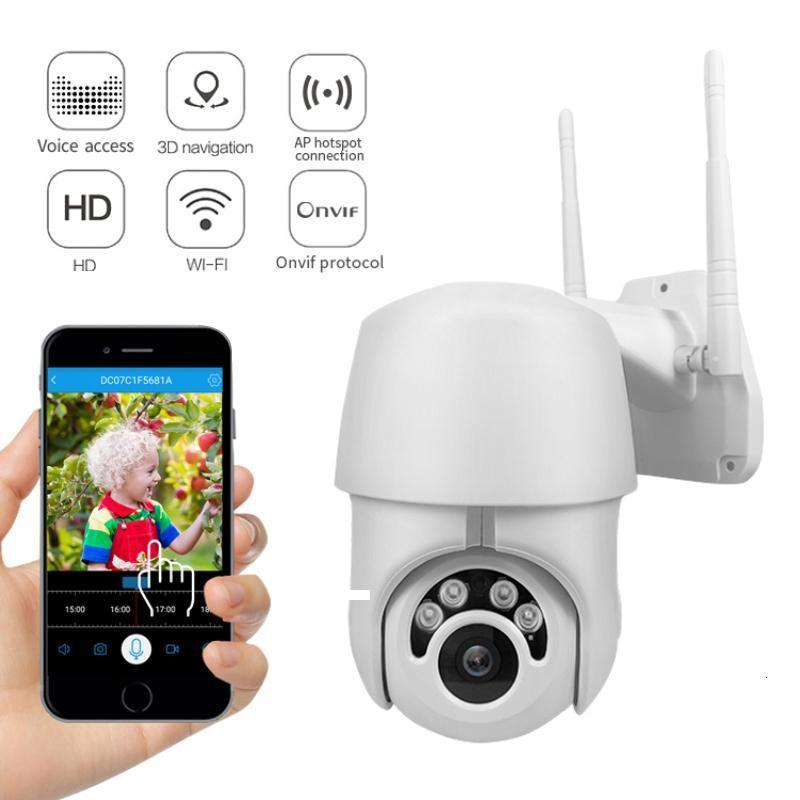 cgjxs1080p Ptz Ip Camera Outdoor Speed Dome Wireless Wifi Security Camera Pan Tilt 4x Zoom Ir Network Cctv Surveillance 3 .6mm Tf Card T1910