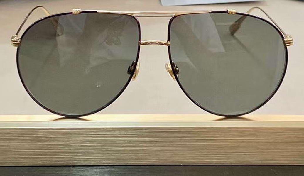 Hommes Lunettes de soleil Or / Vert Vintage avec boîte Sonnenbrille Sunglasses de Gafas de Fashion Sun Havana Lunettes Sol DVUHF