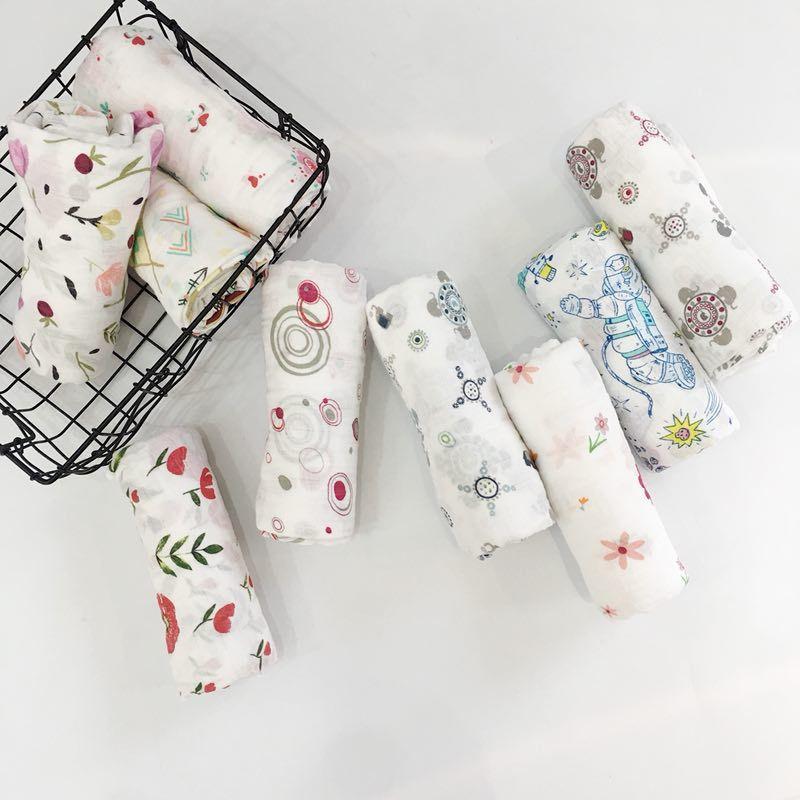 Kids Muslin Swaddling Blankets Multifunctional Baby Blanket Receiving Blankets Newborn Batch Towel Cotton Soft Baby Envelope