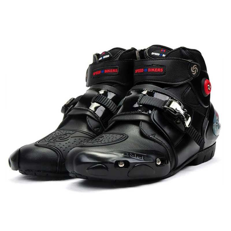 Riding Tribe Microfiber Motorcross Riding Shoes Motorcycle Racing Protective Ankle Boots Anticollision Non-slip 2020New A9003