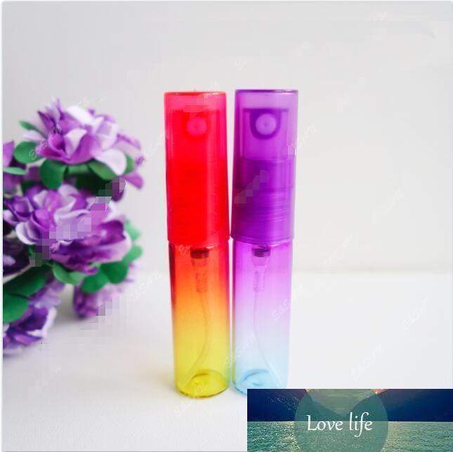 Colorido mini bomba de perfume del atomizador recargable niebla fina del color del gradiente de cristal del aerosol botella vacía Tamaño de viaje