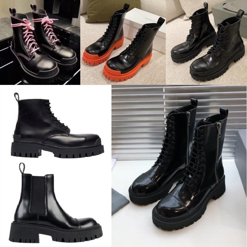 2020 nuova Classic Martin Stivali Donne caviglia bottini Uomini Donne Boot SCIOPERO cuoio fondo britannico stivali stile moto corrispondenza dei colori