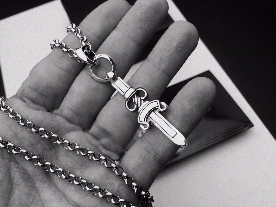 moda in acciaio inox collana bijoux a catena per uomo e donne di personalità di tendenza punk regalo gioielli hip hop stile Lovers croce
