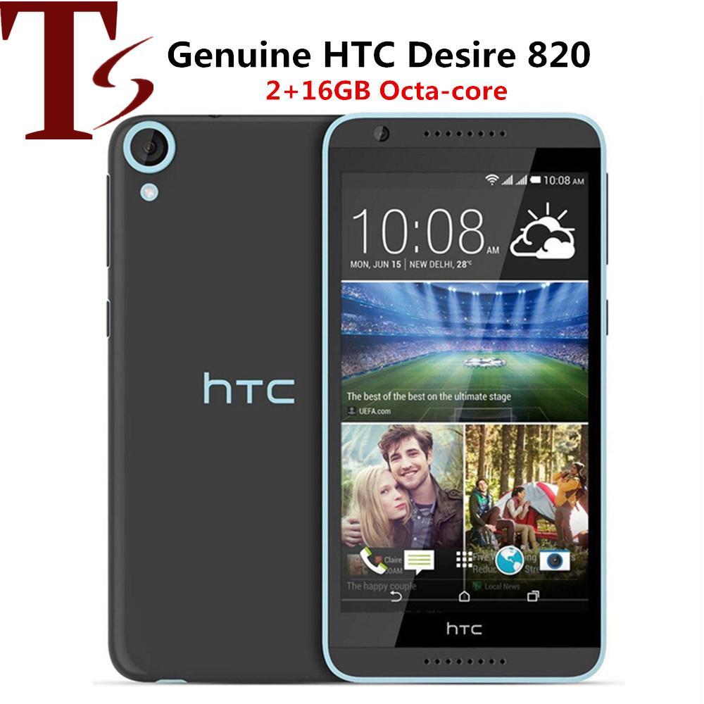 """الأصلي مقفلة HTC Desire 820 المزدوج SIM OTCA Core Android الهاتف المزدوج 4G LTE 5.5 """"1270 * 720 13MP كاميرا الهاتف الذكي 16GB"""