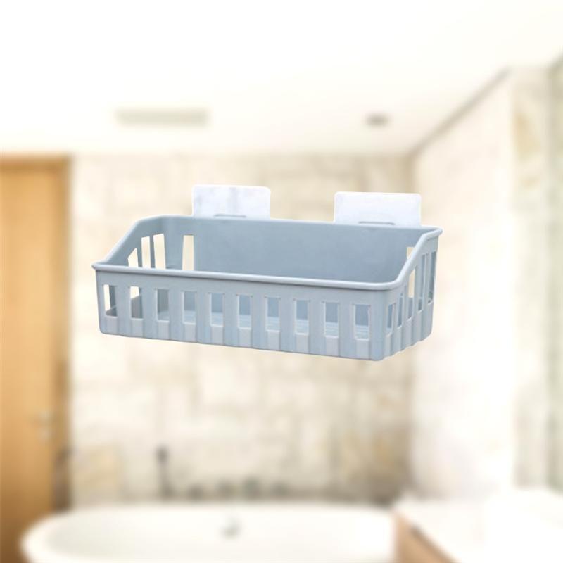 Cesta perfurador Pc Cozinha Titular Banho Organizador Duche armazenamento criativo montado para 1 Livre rack de parede RXqyo homes2011