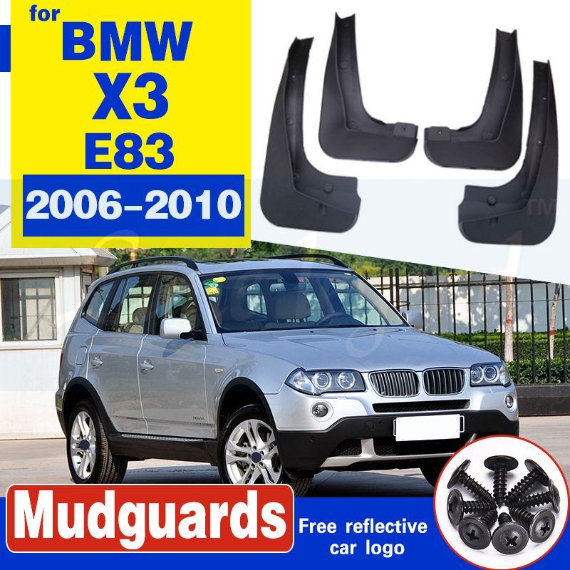 Pour 2006 - 2010 BMW X3 E83 4PCS boue Rabats Garde-boue Garde-boue Fender Kit boue Flap Garde-boue Garde-boue style voiture
