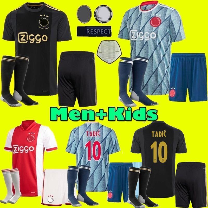 figli adulti 2020 2021 Ajax FC Jersey di calcio casa lontano 20 21 Neres TADIC ZIYECH PROMES uomini giovani 50th calcio maglie Camicia