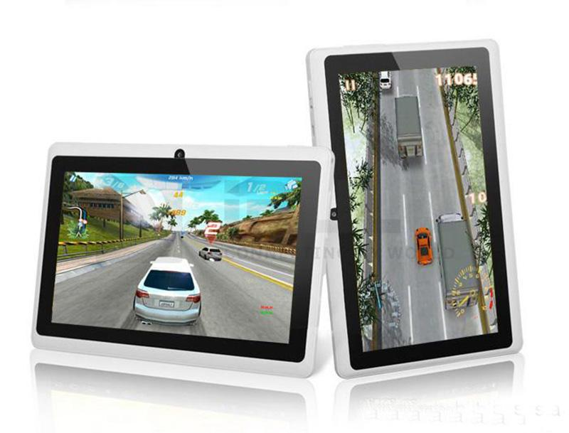 50PCS Q88 Dual Core Tablet PC 7 Inch Capacitive Screen Android 4.4 AllWinner A33 512MB RAM 8GB TA2
