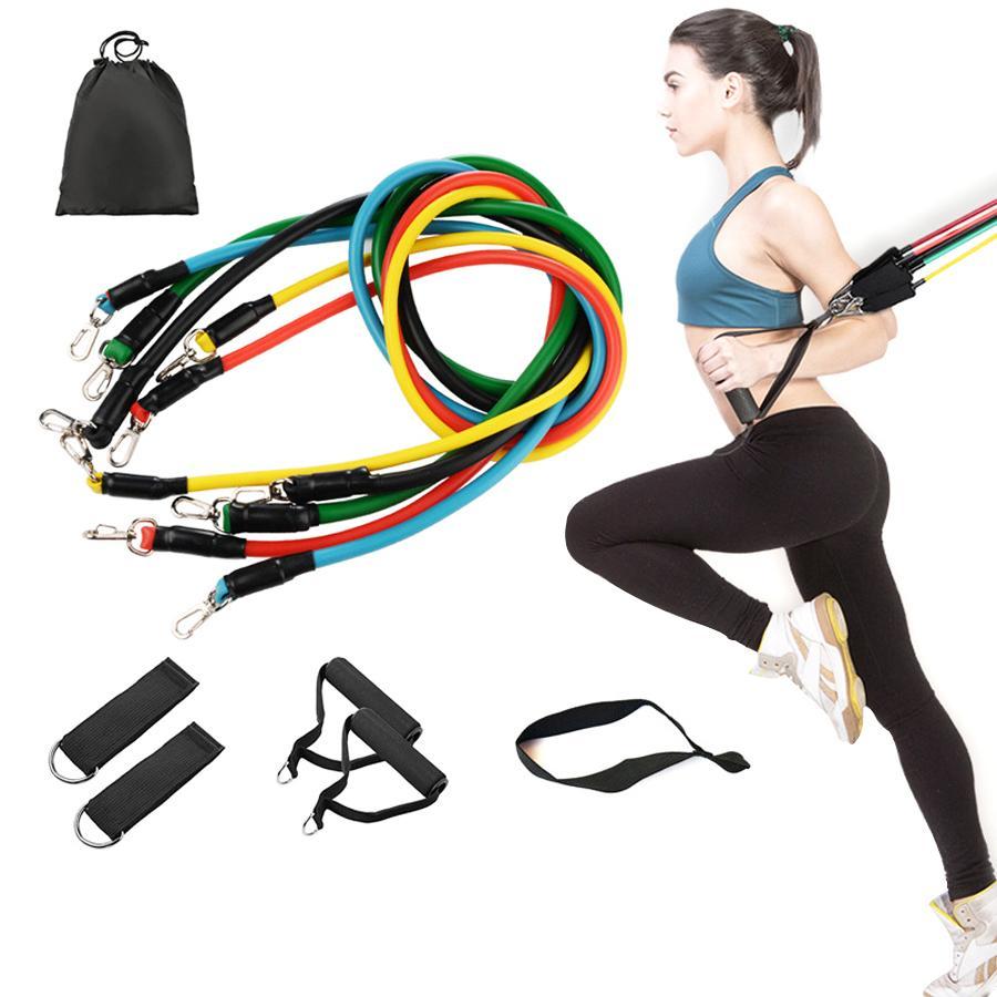 Bandas de entrenamiento tire de la cuerda ejercicios de fitness Bandas de resistencia del látex Tubos pedal Formación correa Cuerpo elástico Formación DWC1025 Yoga