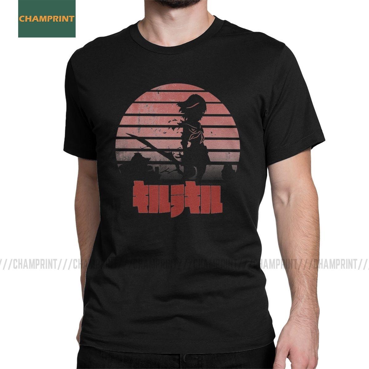 Hombres Akame Ga Kill Kill Kill La T Raid camisa de la noche animado Tatsumi Elfen Lied Hellsing algodón de manga corta camisetas Gift Idea Camisetas
