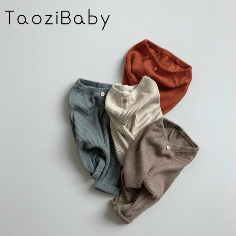 Outono e inverno meninas de roupas infantis inferior do bebê Calças Baby Boy And Girl Threaded Leggings calças de algodão puro MX200811