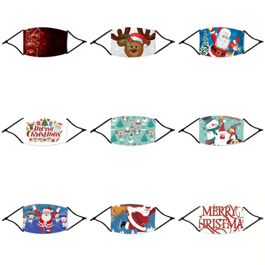 Maschere Maschera bocca Seta Ice Christmas 3D lavabile traspirante unisex Viso Natale riutilizzabili antipolvere Anti Inquinamento Bocca Er LJJA3854 # 278