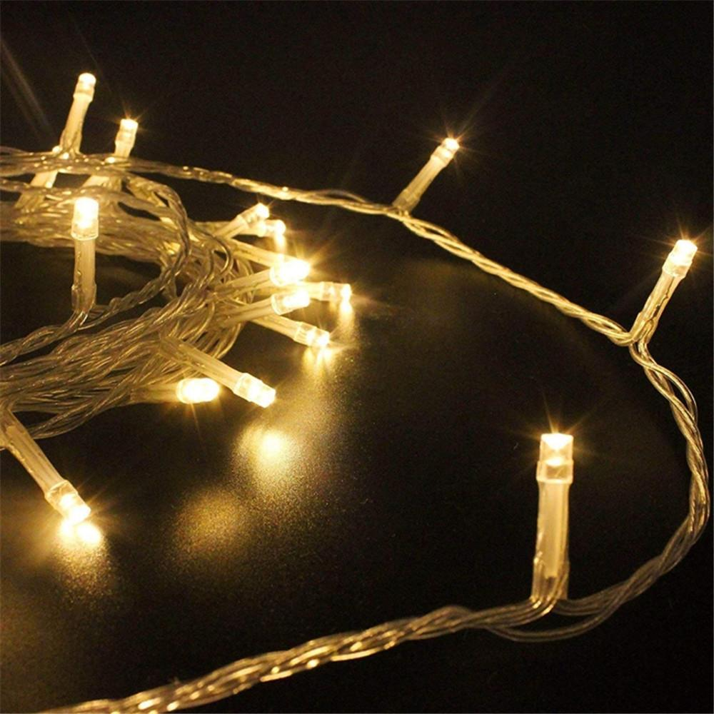Urlaub LED Lichterkette im Freien für Weihnachtsgirlande Raum Schlafzimmer Innenhochzeitsdekoration Lampe 6M 10M LED-Schnur-Licht