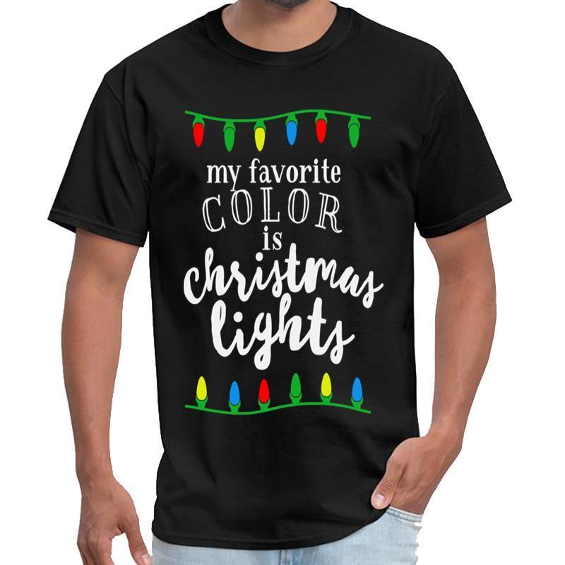 Личность Мой любимый цвет рождественские огни трейлер парк мальчиков майка самец самка Tshirt большого размер S ~ 5xl HipHop вершины
