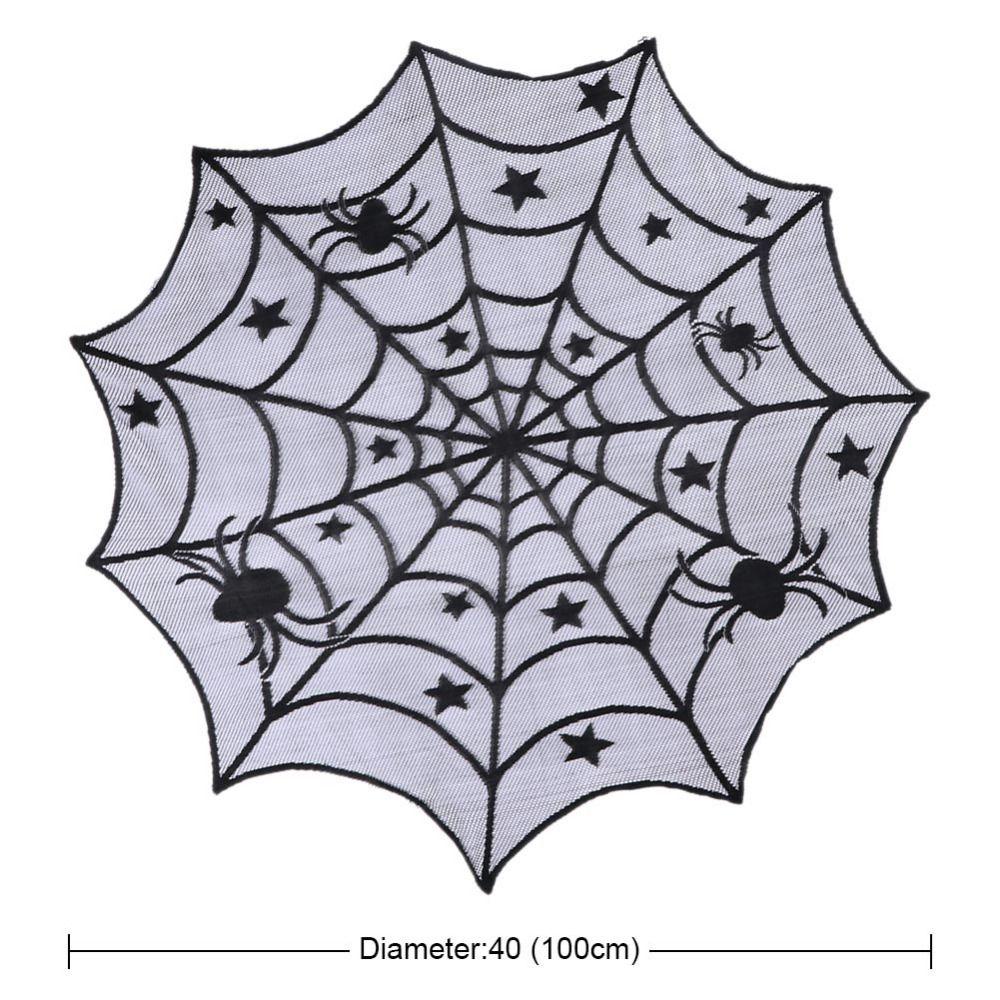 Black Lace Halloween Party Spiderweb Tovaglia 100 centimetri tovaglie Finestra Hanging Halloween Horror Party Decoration