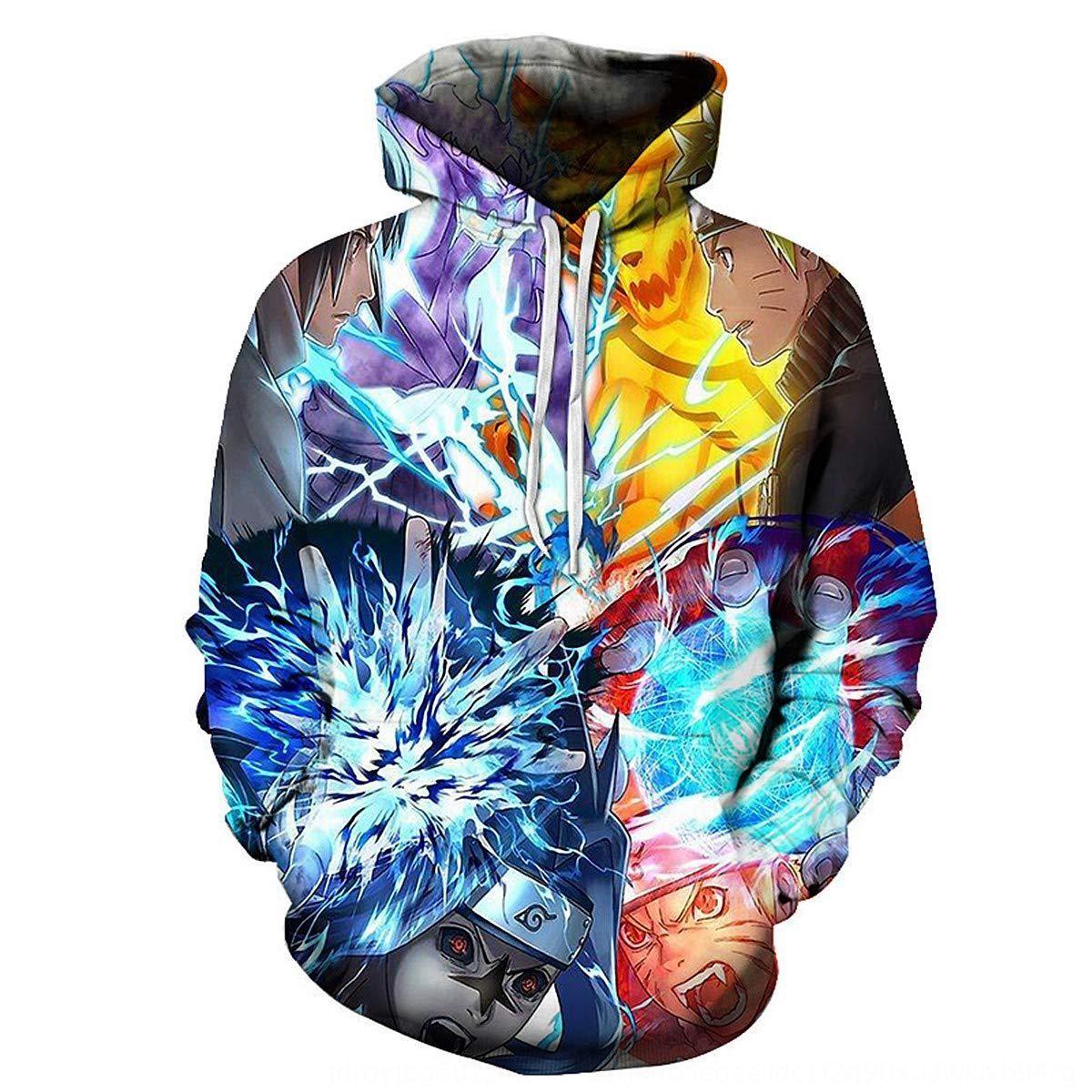 NSf0y Overseas Narutos Männer gedruckt Sweatshirt 3D Pullover Pullover Kapuzen-Sweatshirt mit Kängurutasche