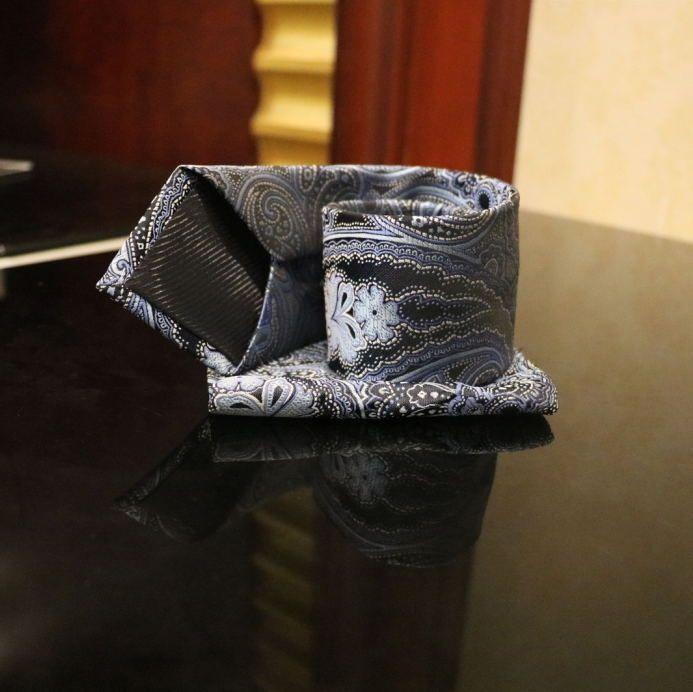 Mario uomini classici della cravatta Tie Jacquard fazzoletto handchief Mens Wedding righe Dots floreale Affari