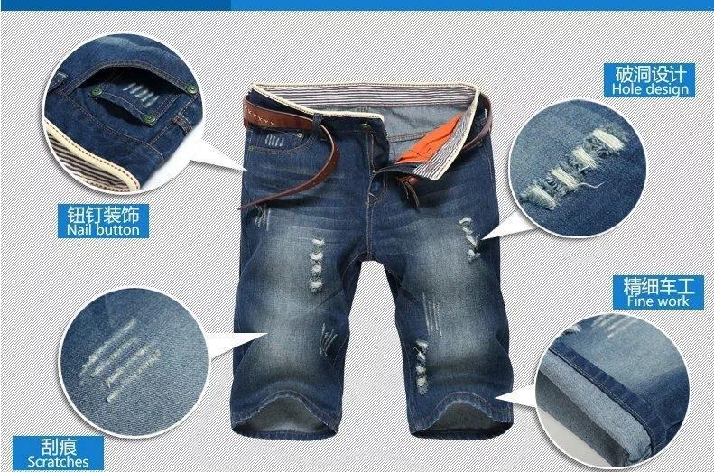 pantalones vaqueros de 8Y7SG Nueva Corea hombres de los cortocircuitos del dril de algodón recto y los pantalones vaqueros de los hombres y pantalones cortos