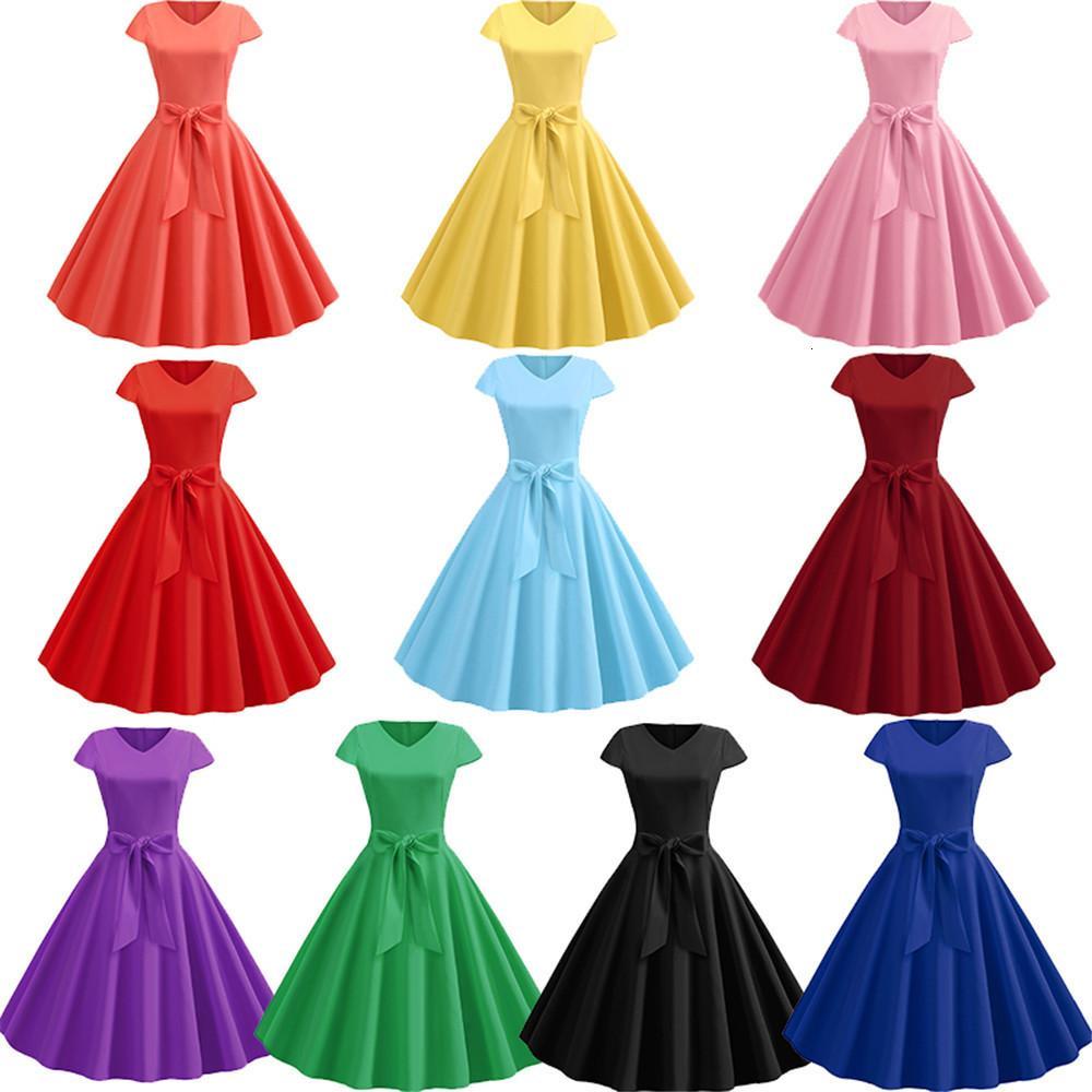 Buon tessuto 2020 il nuovo disegno caldo di vendita delle donne del partito Vintage Dr coreano lavorato a maglia asimmetrica Kawaii Lavoro Nuovo gotica Ufficio 50352