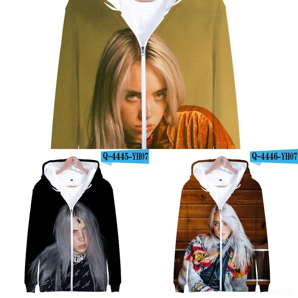 xdul4 персонализированного певица Американской певица Билли Eilish ZUZaY мода и горе связать шапку Нового американского Нового Билли свитер Eilish персонализированного Fash