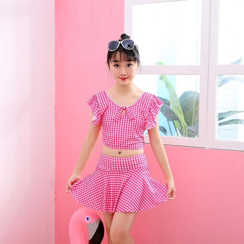 cw6WR Kinder Mädchen Prinzessin Kleid 'mittlere und ältere Kinder 10-14 Jahre alt Split Prinzessin Kleid Student Badeanzug Mädchen Zu