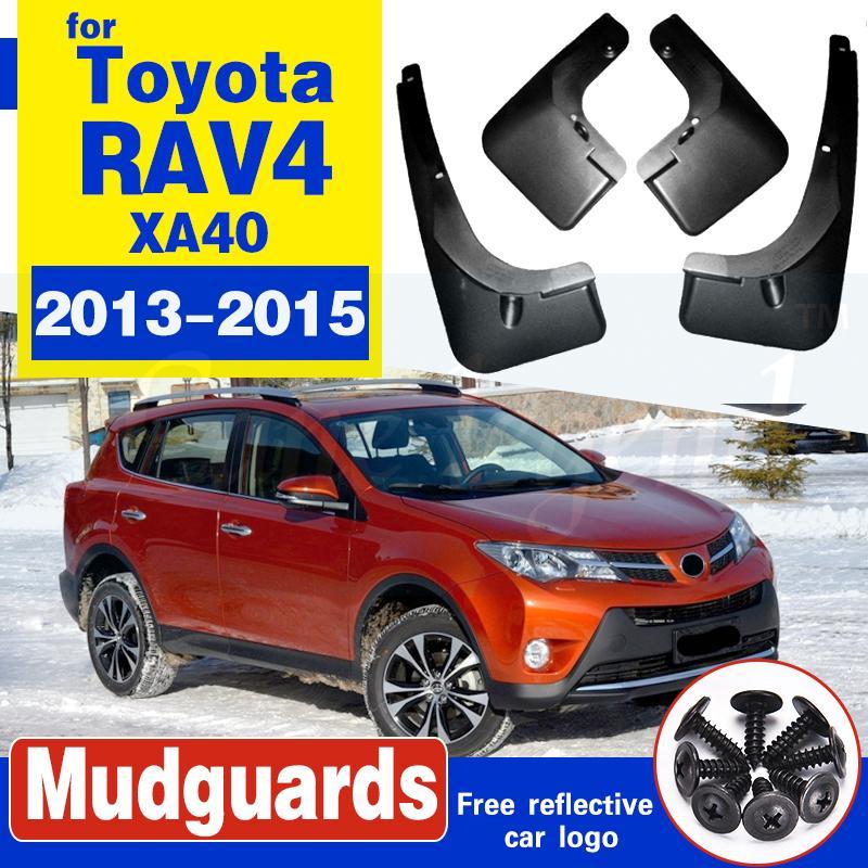 Car Mudguards For Toyota RAV 4 2013-2015 Car Fender Accessories Splash Guard Paneling 2013 2014 2015