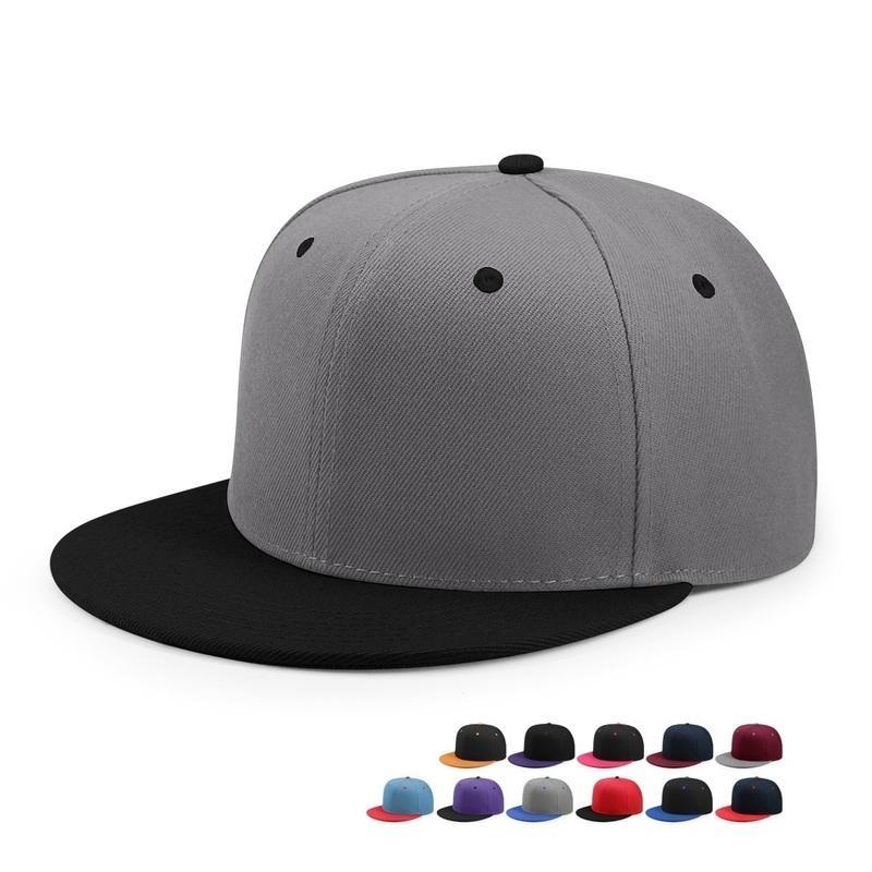 Toptan Hip Hop Düz Yetişkin Katı Renk yamalı Beyzbol Şapka Kadınlar ve Erkekler Özel Düz Snapback Cap 33 Colos Peaked
