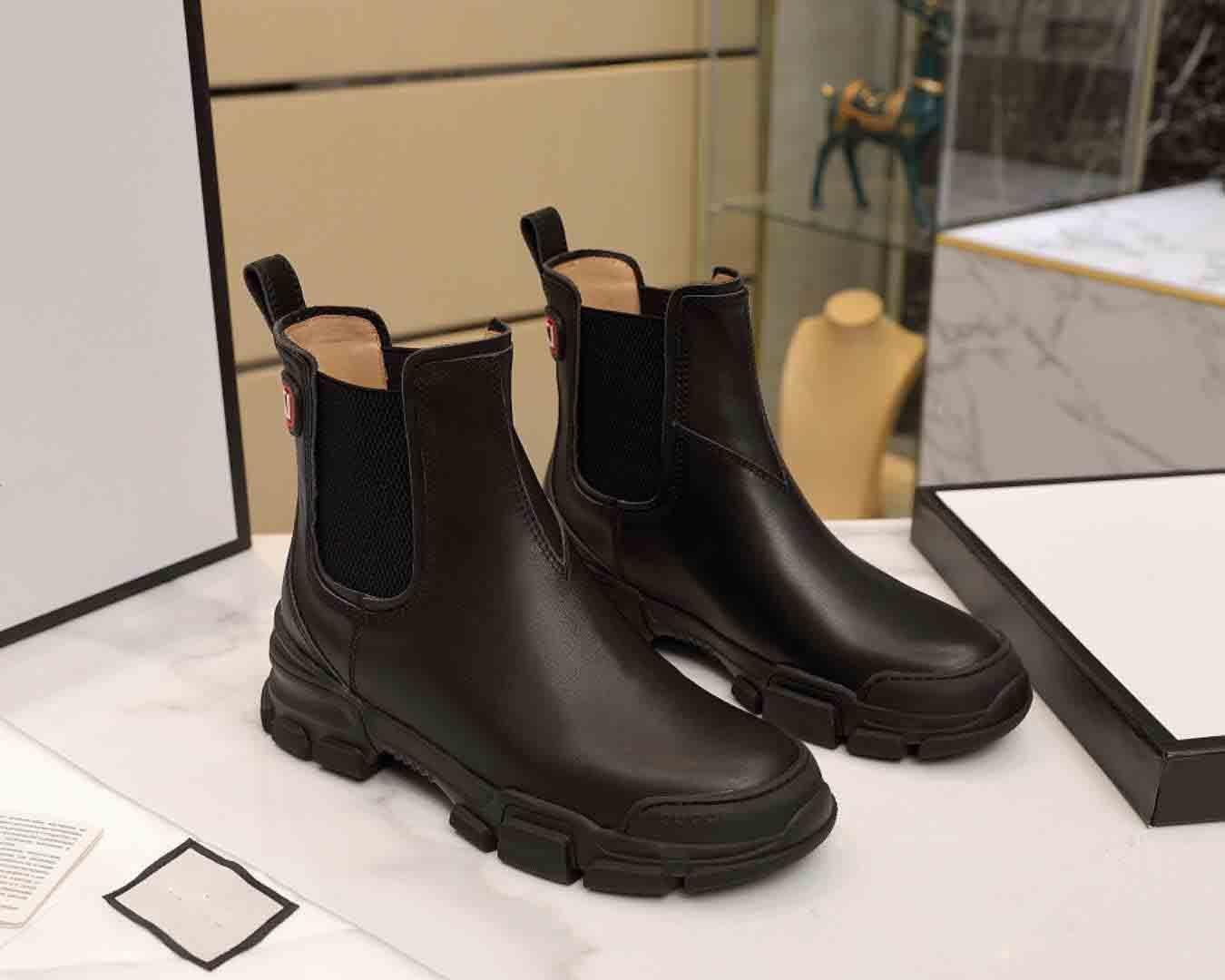 bottes en cuir Designer, bottes pour femmes de luxe d'hiver, bon concepteur de qualité bottes courtes, concepteur bottes Martin