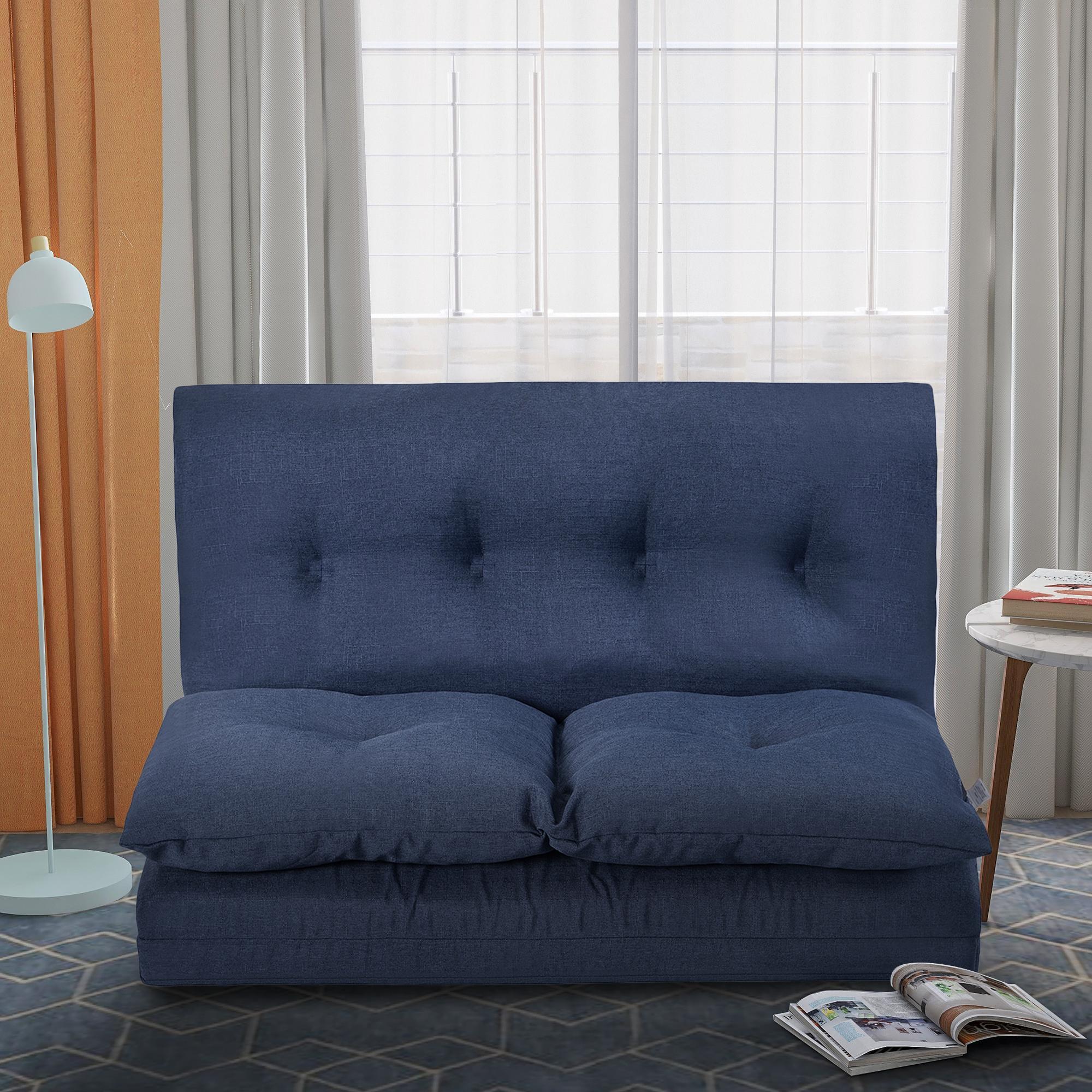 Freies Verschiffen US-amerikanische Lagerbestand 3-5 Tage Lieferung Bodencouch und Sofa Stoff Falten Chaise Lounge Sofa Stuhl PP019425QAA