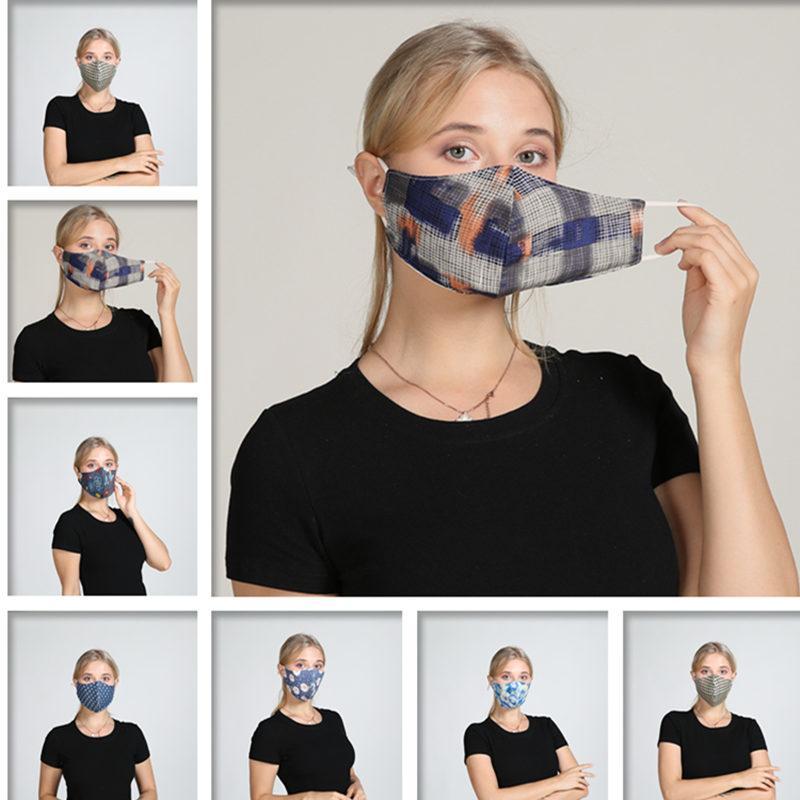 ventilini Nefes Ağız Maskeleri Anti Toz Yıkanabilir Yeniden kullanılabilir Yüz maskesi kapak Tasarımcı maske DHB249 ile 5Color Çiçek Baskı Maske