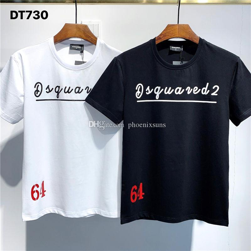 Dsquared2 Dsq2 Las camisetas del diseñador SS20 nueva llegada de calidad superior D2 Ropa de Hombre Imprimir desgaste de la calle camisetas de manga corta M-3XL DT730