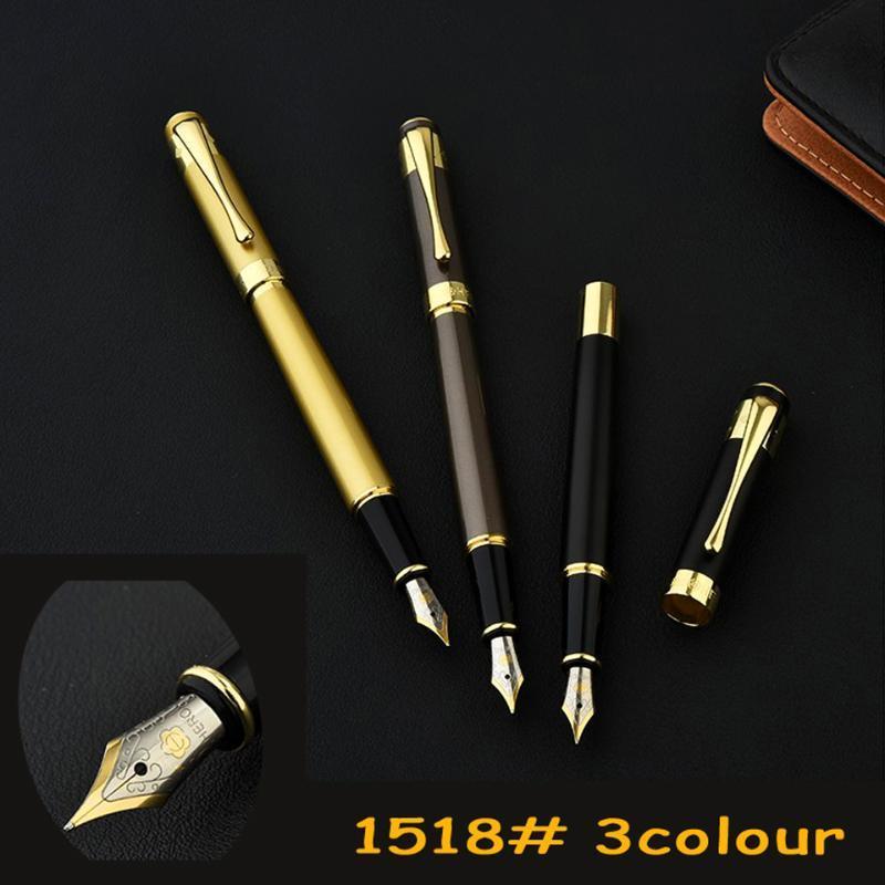 Haute qualité Iraurita Fountain Pen Full Metal or Stylos de luxe Clip Caneta Papeterie Fournitures de bureau scolaires