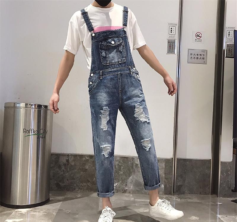 jeans di marca di modo denim fori foro pantaloni jeans hip-hop di lavoro auto-coltivazione uomini Ripped per gli uomini Fashion designer