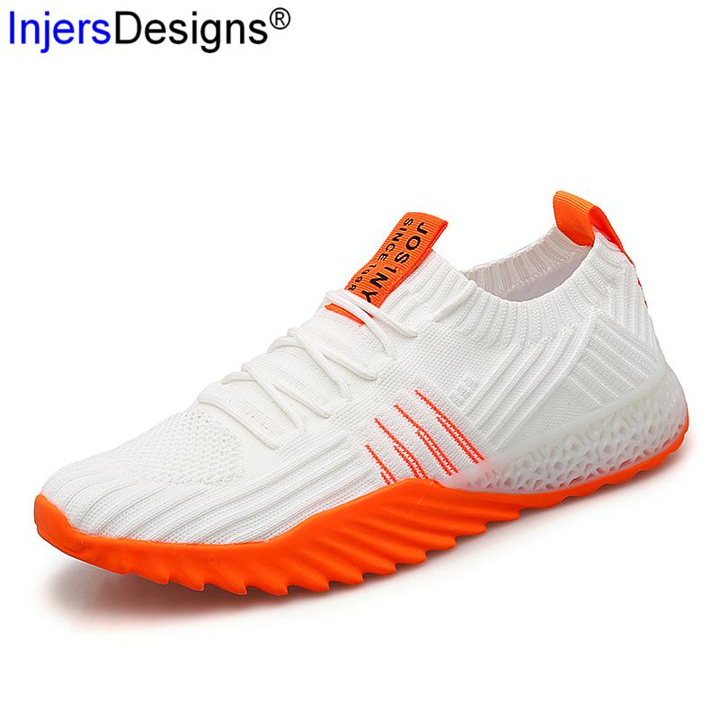 Vente chaude Hommes Chaussures Casual Lovers Chaussures de marche souple plat Chaussures Mode respirant Tenis Masculino Formateurs Couple 35-45