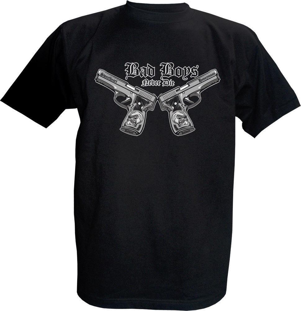 2019 Homens verão camisetas Jailwear t-shirt preto T-shirt Bad Boys Custom Made