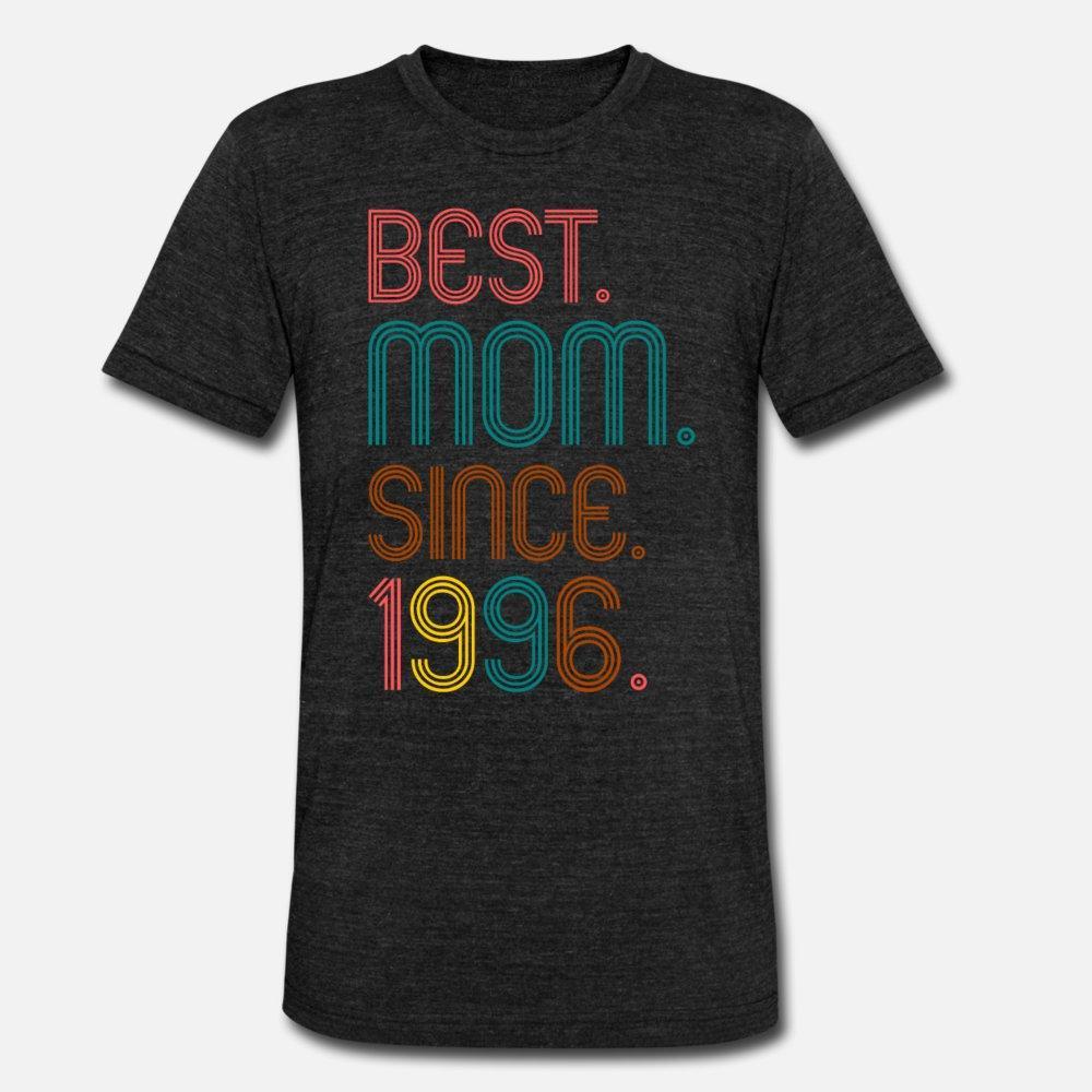 Miglior mamma Dal 1996 Gif per le donne degli uomini della maglietta del progettista manica corta formato più 3xl Estate Stile Normale sveglia di nuovo stile Camicia convenzionale