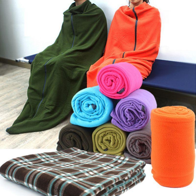2020 High Quality Warm Polar Fleece Sleeping Bag Blankets Portable Ultra-light Sleeping Bag For outdoor Camping Tent Bed